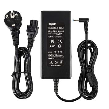 Sunydeal Cargador Adaptador 90W para Portátil HP,19.5V/4.62A, 4.5x3.0mm, Compatible con HP ENVY TouchSmart Sleekbook m6-k, m7-j, 15-j, 17-j serie, HP ...