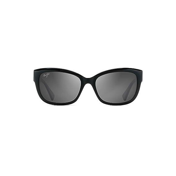 f17cbb854a Maui Jim GS768-02 02 Black Plumeria Cats Eyes Sunglasses Polarised Lens  Categor  Amazon.co.uk  Clothing