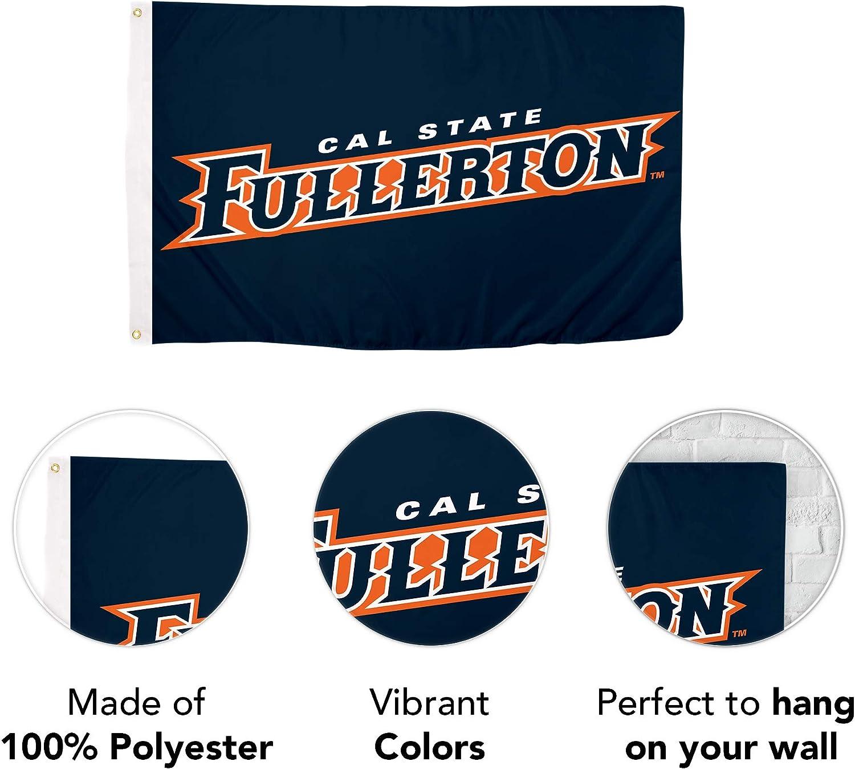 Desert Cactus California State Fullerton Cal State NCAA 100/% Polyester Indoor Outdoor 3 feet x 5 feet Flag