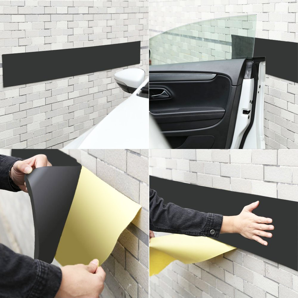 Car Door Protector Bump Body Guard,2 Pack Foam Sticking Garage Wall Parking Protector Collision Avoidance Waterproof Foam Protector Wall Corner Protecting Your Car Doors (2 packs in one roll) by GUEQUITLEX (Image #4)