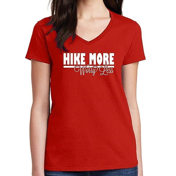 ee76c790 Amazon.com: Long Beach Apparel Hike More Worry Less v-Neck T Shirt ...