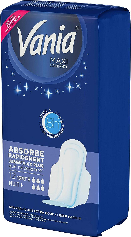 Le paquet de 18 Vania Serviettes hygi/éniques Maxi Confort normal