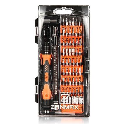 Z ZANMAX 60 en 1 Herramienta de Destornilladores Magnéticos con 56 Bits, Herramienta de Destornilladores de Precisión con Mango Antideslizante