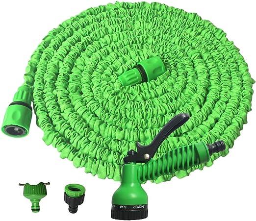 Baijiaye Manguera Jardín Manguera Extensible Manguera de riego Extensible, Manguera con Boquilla multifunción Incl para la irrigación del jardín de césped Verde 25FT/7.5m: Amazon.es: Hogar