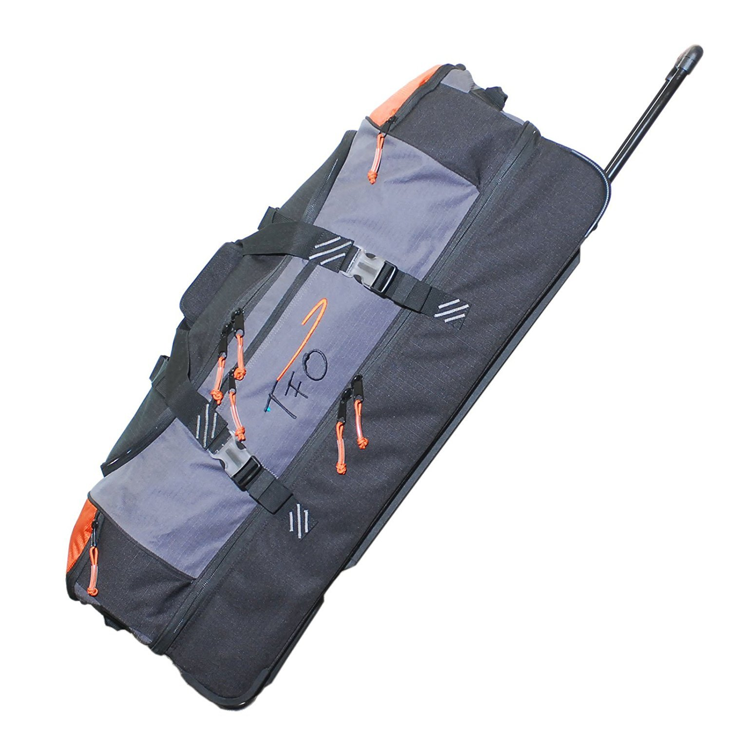 TFO Split Bottom Rolling Cargo Bag Wheeled Fly Fishing Durable Reinforced