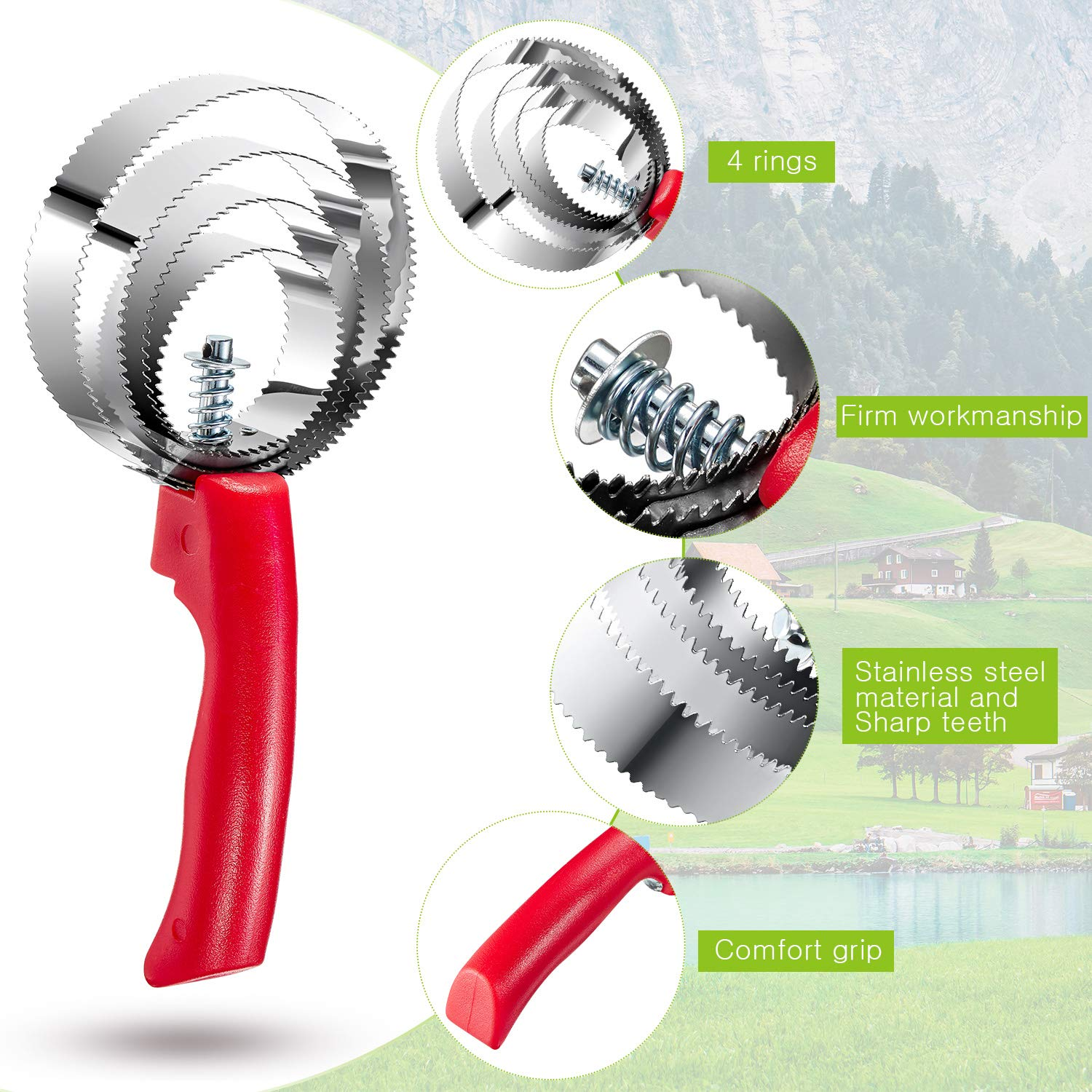 CURRY Great Grip Spring Curry-Tough 1//PK of 2//Red /& Black