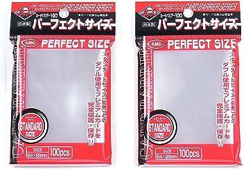 Fundas para Cartas de Juego Magic/Pokemon KMC Perfect Size - 200 Fundas (2 Paquetes de 100) Importación de Japón - Made in Japan: Amazon.es: Juguetes y juegos