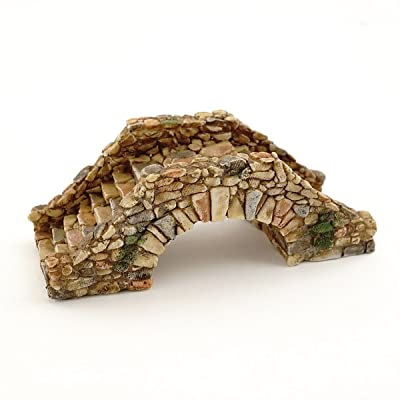 Top Collection Miniature Fairy Garden and Terrarium Cobblestone Bridge Figurine: Garden & Outdoor