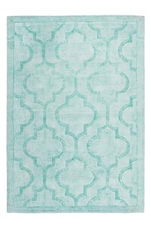 Amazon De Teppich Handgefertigt Baumwolle 100 Viskose Teppich Aeon