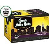 Chock Full o'Nuts Single Serve Coffee Pods, Upper West Side Dark Roast - Premium Arabica Coffee - Compatible with Keurig K-Cup Brewers (12 Count)