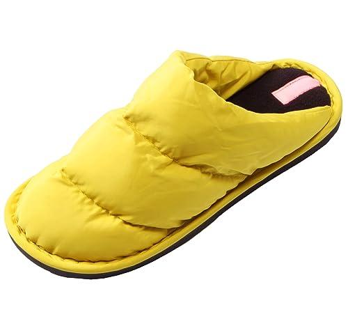e336c9f60fc Adultos Unisex algodón Zapatillas,Abajo Chaqueta Vamp,Gran  tamaño,Caballeros Damas Zapatillas de casa,conmutador Antideslizante único  Zapatilla,con Forrado ...