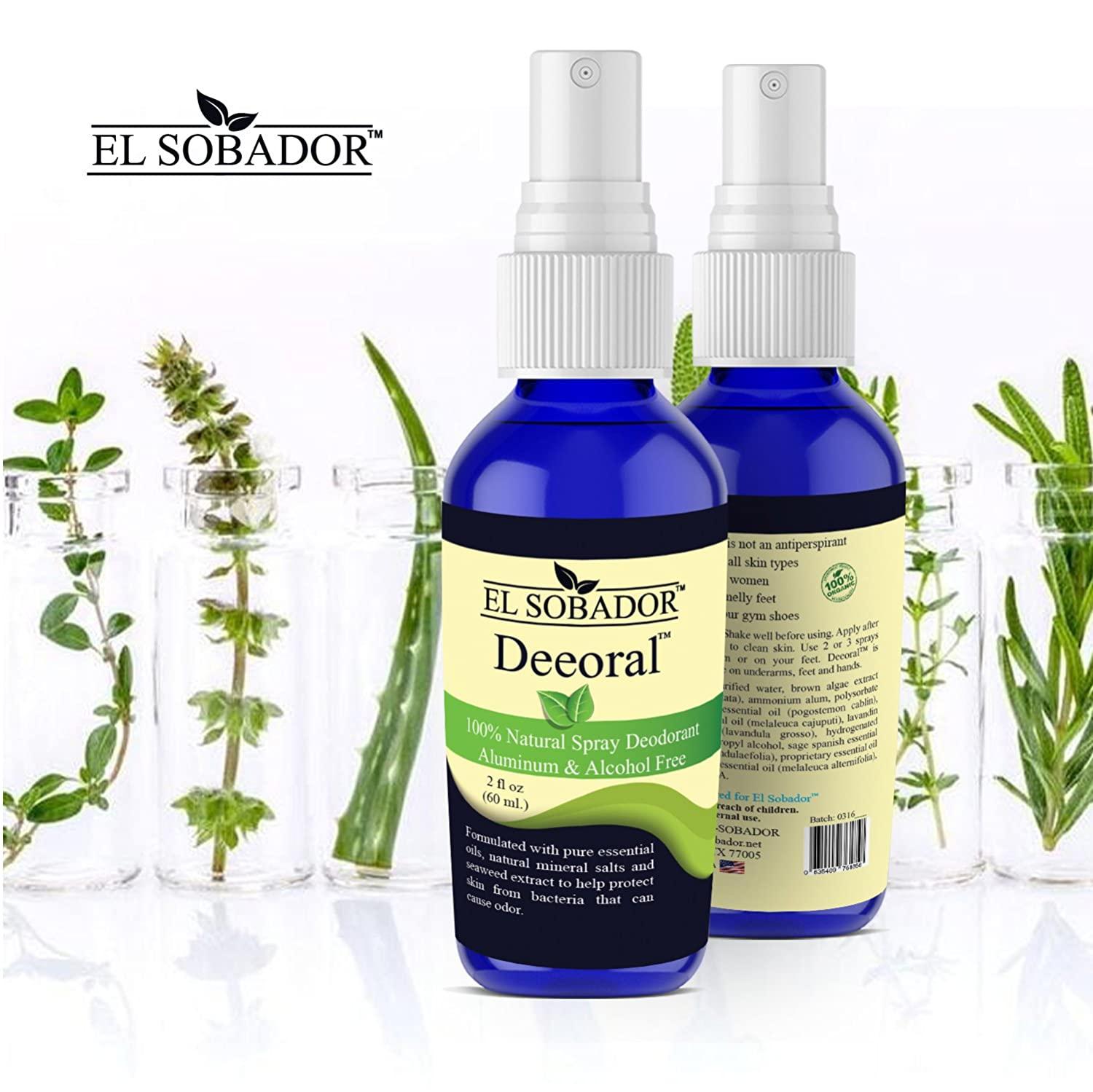 Travel size Natural Deodorant Spray - for women and men -Deeoral by El  Sobador