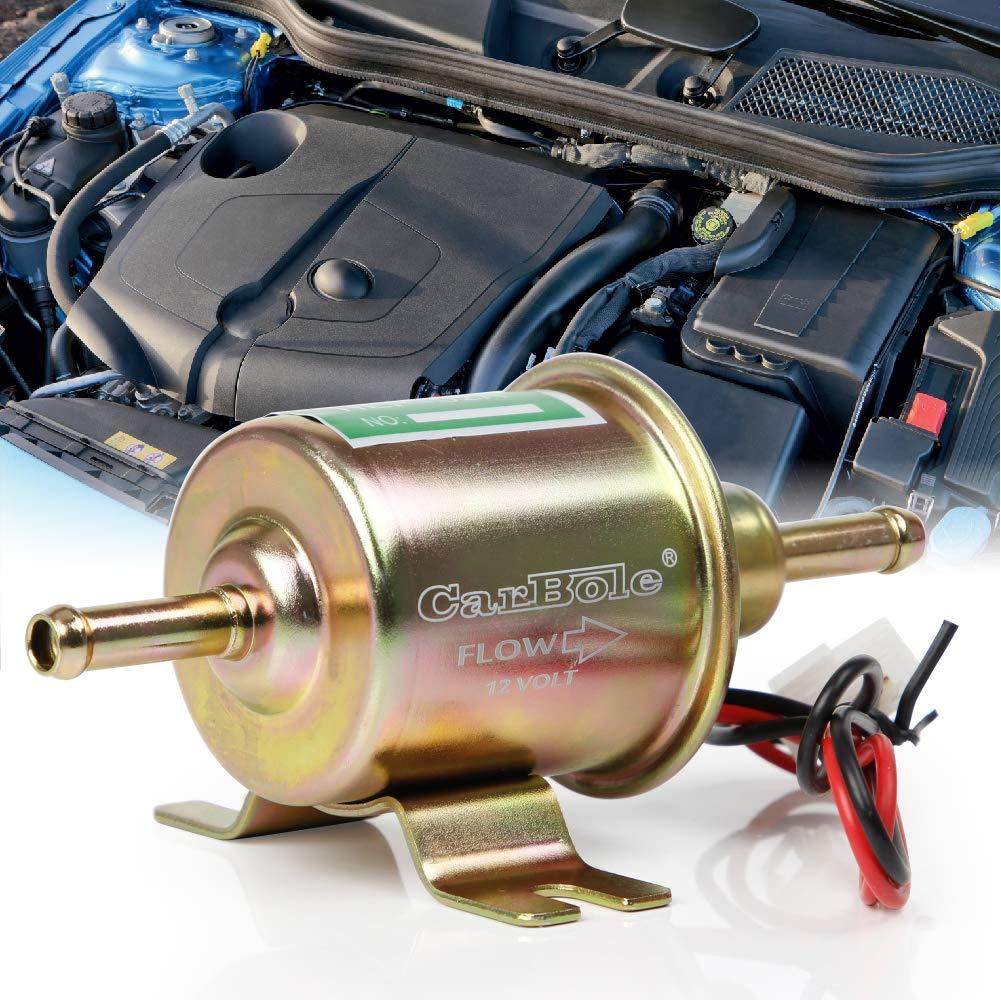 BANG4BUCK 12V Low Pressure Electric Fuel Pump 2.5-4 PSI 70 L//H Universal Micro Inline Transfer Fuel Pump for Gasoline Diesel Carburetor HEP-02A