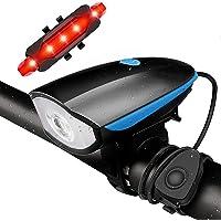 Luz para Bicicleta, Conjunto de Luz para Bicicleta Recarregável USB, Luzes LED Super Brilhantes para Bicicleta na Frente…