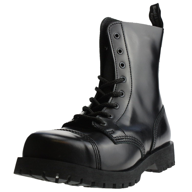 Noir - Noir bottes & Braces Bottes 8 Trous Rangers Noir