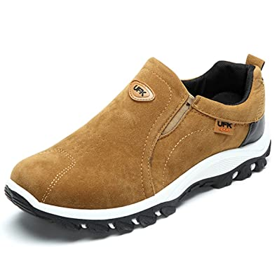 Slip On Sneaker Men Outdoor Hiking Casual Sneakers Shock Absorption Non-Slip Shoes