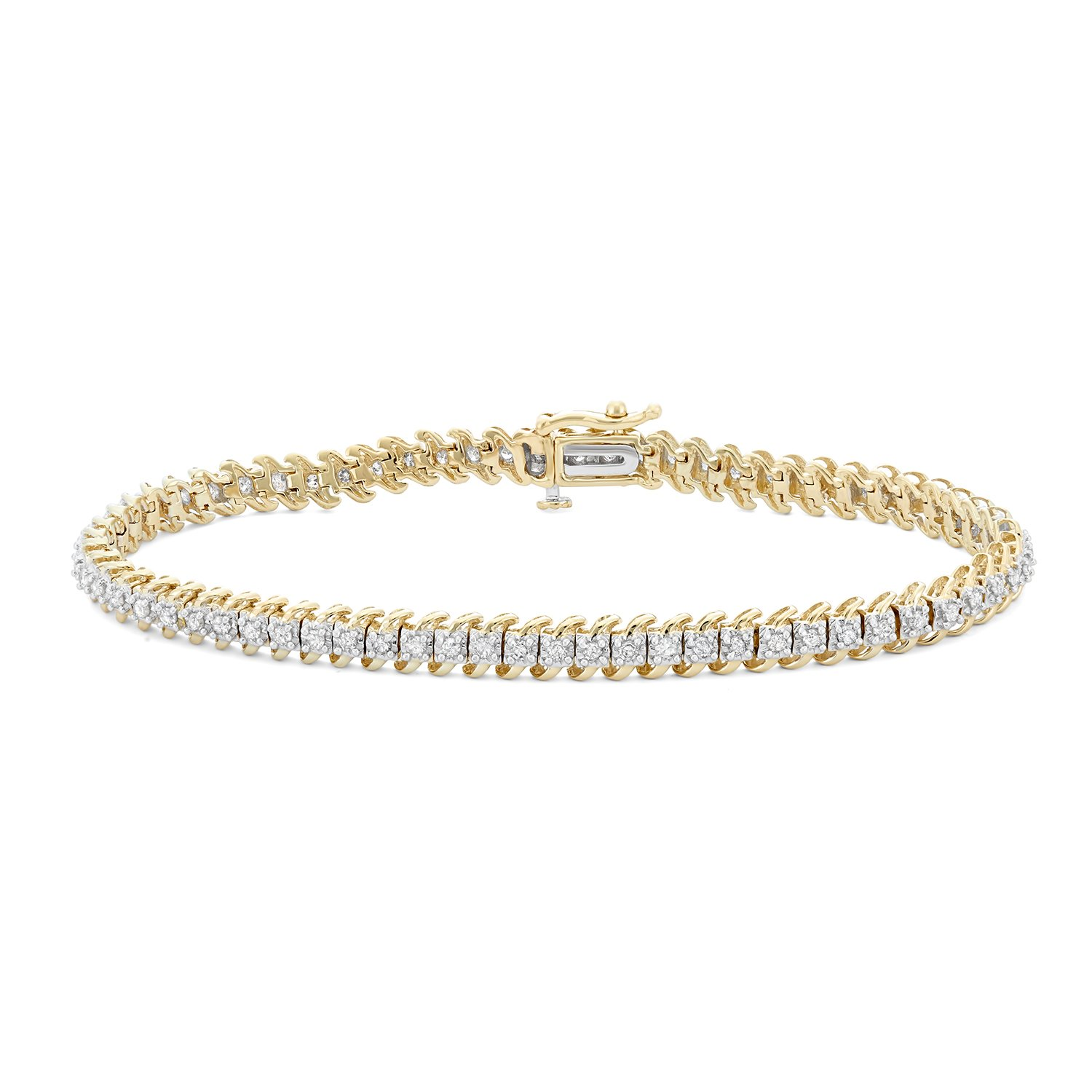 bracelet en yg fope yellow collection s classic white kt woman gold jewelry women jewelery