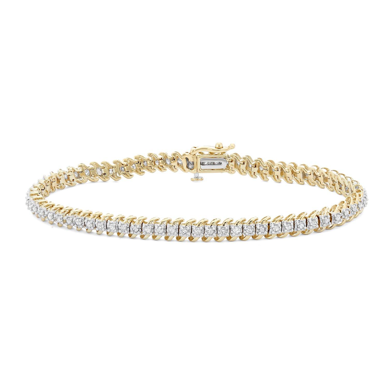 Amazon Com 1 Cttw White Diamonds Tennis Bracelet In 10kt Gold I J