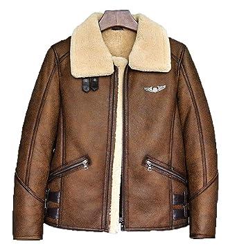 a7411bdc9e Denny Dora Mens B-3 B6 Sheepskin Shearling Bomber Jacket at Amazon Men s  Clothing store