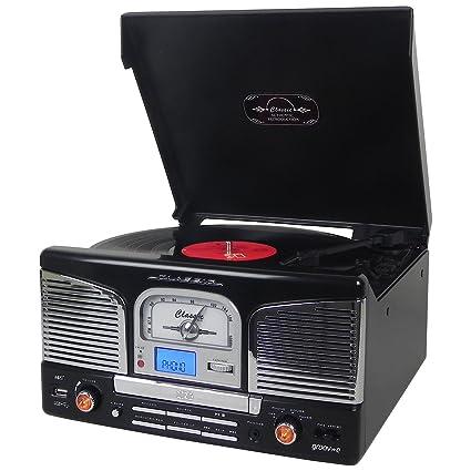 Groov-e Retro Series - Reproductor de Discos de Vinilo con CD, USB ...