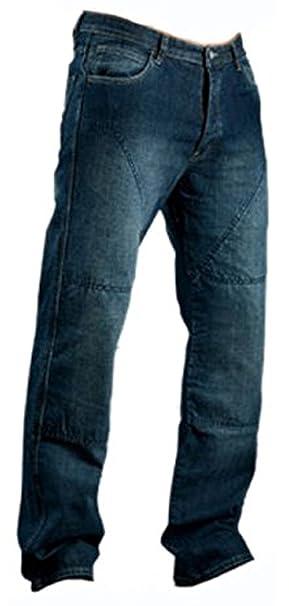 bbf59c344b Juicy Trendz Hombre Motocicleta Pantalones Moto Pantalón Mezclilla Jeans  Con Protección Aramida Azul W32-L32  Amazon.es  Coche y moto