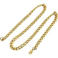 DonDon® Herren Halskette Panzerkette Edelstahl goldfarben mehrere Längen und Breiten