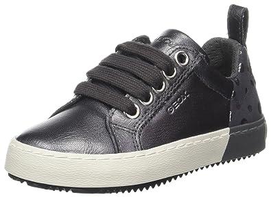 Geox Mädchen J Kalispera Girl A Sneaker, Schwarz (Black/Gold), 32 EU