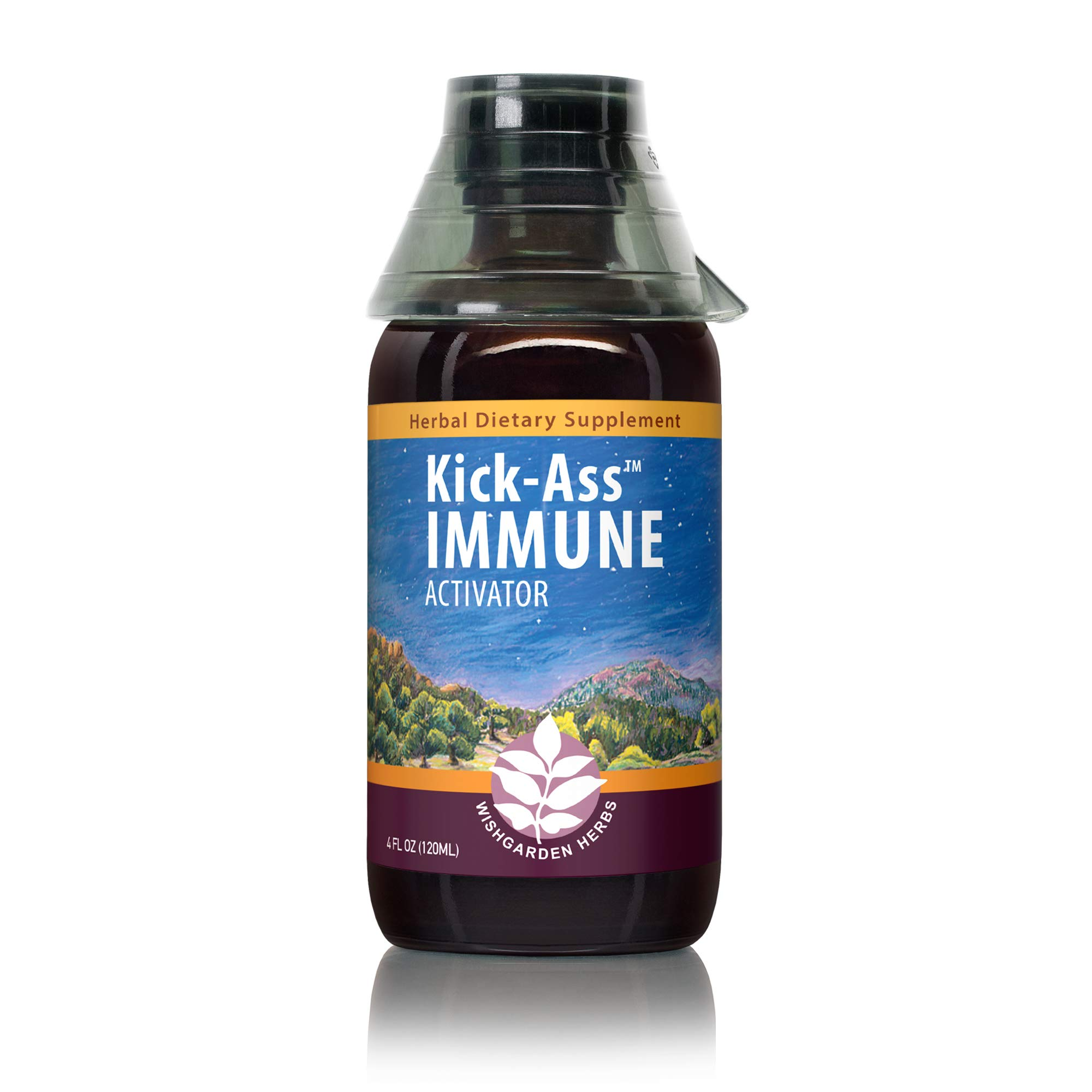 WishGarden Herbs Kick-Ass Immune - Organic Herbal Immune Booster Promotes Healthy System Response and Resistance, 4 Ounce