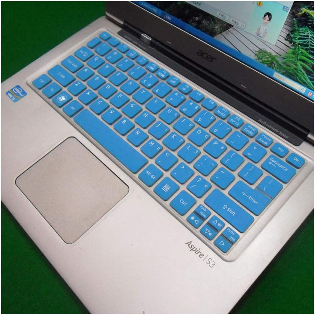 Silicone Keyboard Skin Cover Protector Case for Acer S3 S5 V5-171 V5-121 V5-131 A0756 A0725 Aspire One 725 756-Blue-