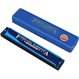 Harmonica ,Key of C,24 Holes Musical Instrument Accessories Blue Color with case