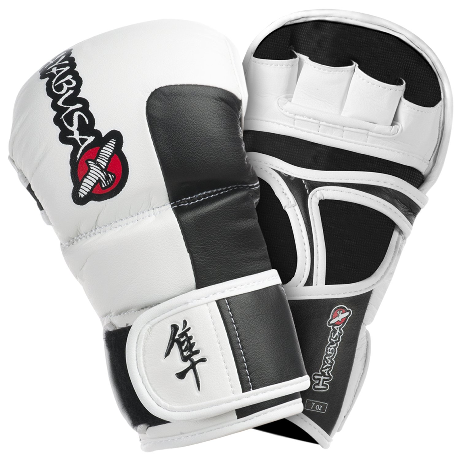 Hayabusa Tokushu Hybrid Gloves, Midnight Black, X-Large/7-Ounce T7HYG-BX