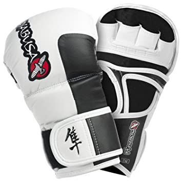 Hayabusa MMA oficial Tokushu 7oz guantes híbridos – blanco (XL)