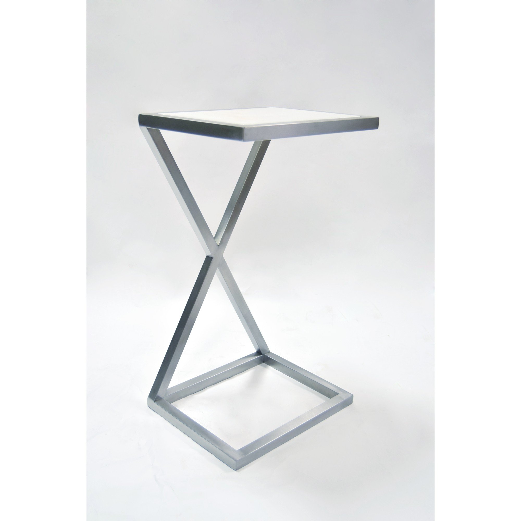 """""""X"""" Occasional Accent Table with Stone Top Insert"""