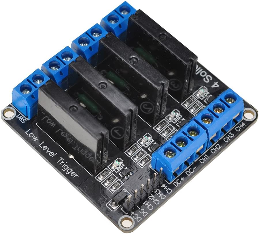 Lysignal 5V Módulo de relé de estado sólido de 4 canales con ...