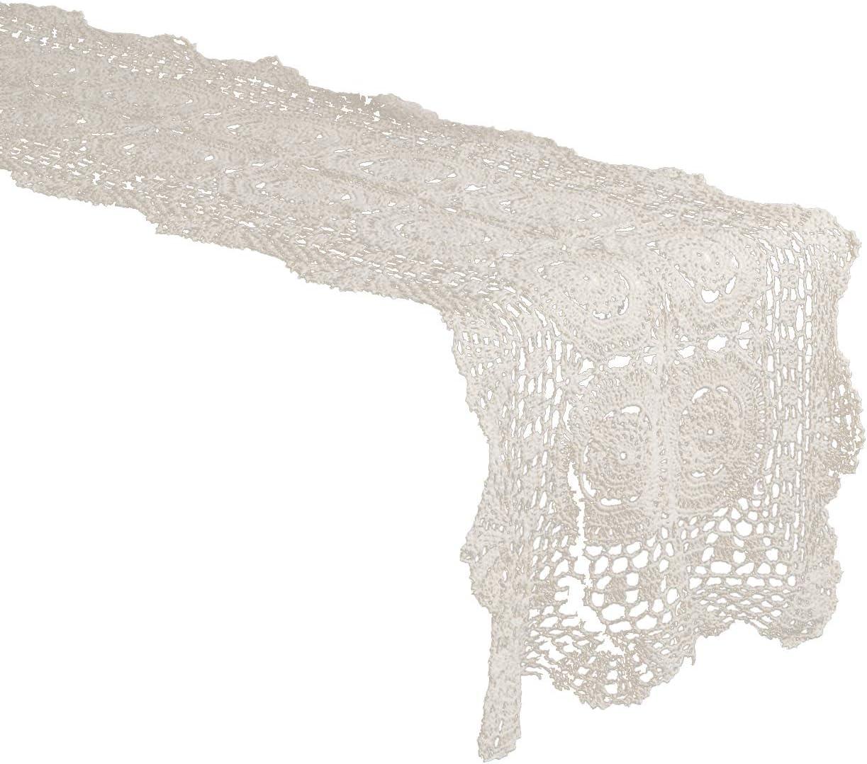 Unique Vintage Ecrus Lace Alternating Scalloped Cotton French
