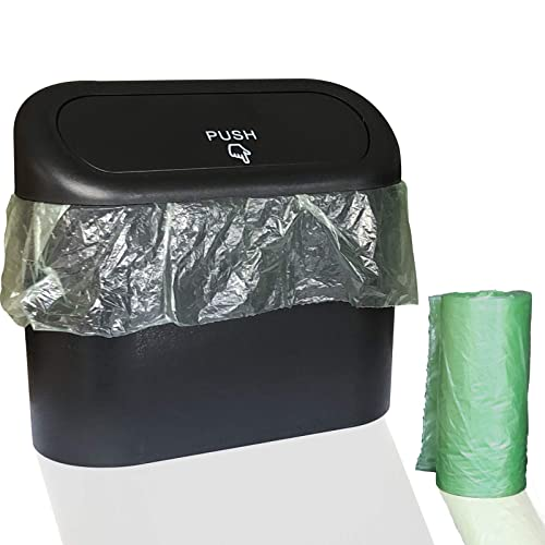 Wontolf Car Trash Can with Leakproof Lid and 30p Car Trash Bags