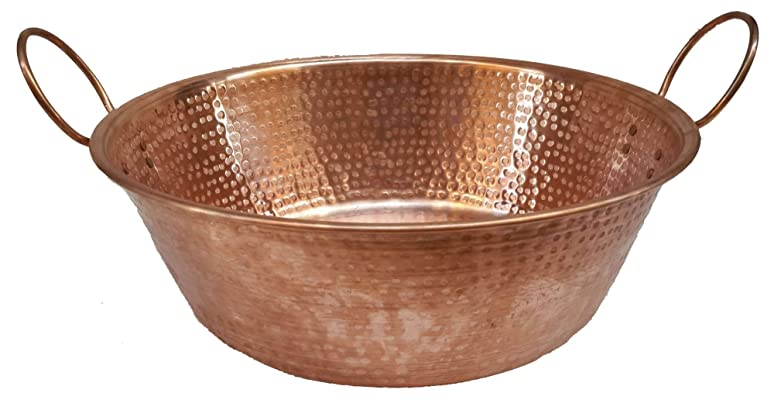 Egypt gift shops Traditional Shiny Polished Copper Basin Foot Massage Relaxing Soothing Therapy Handles Pedicure Spa Bride Beauty Salon Soaking Foot Skin Toes Infection Healthy Cure Treatment