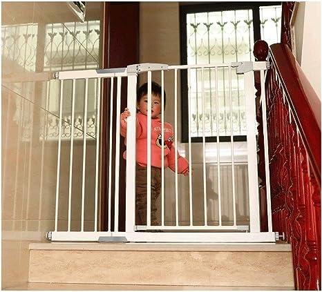 HONGAN Puerta De Bebé Mascota Perro Valla Niños Escalera Barandilla Puerta De Seguridad Escalera For Bebés Anti-caída Guardia Barandilla Puerta De Aislamiento (Color : High80CM, Size : 96-103cm): Amazon.es: Hogar