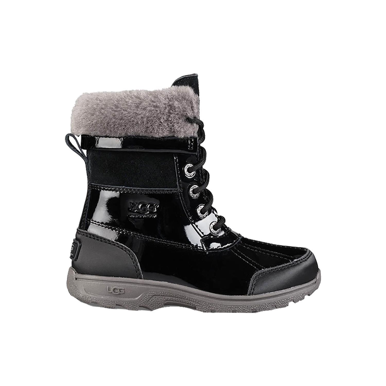 UGG Girls Butte II Patent Rain Boot Black Size 5 M US Big Kid