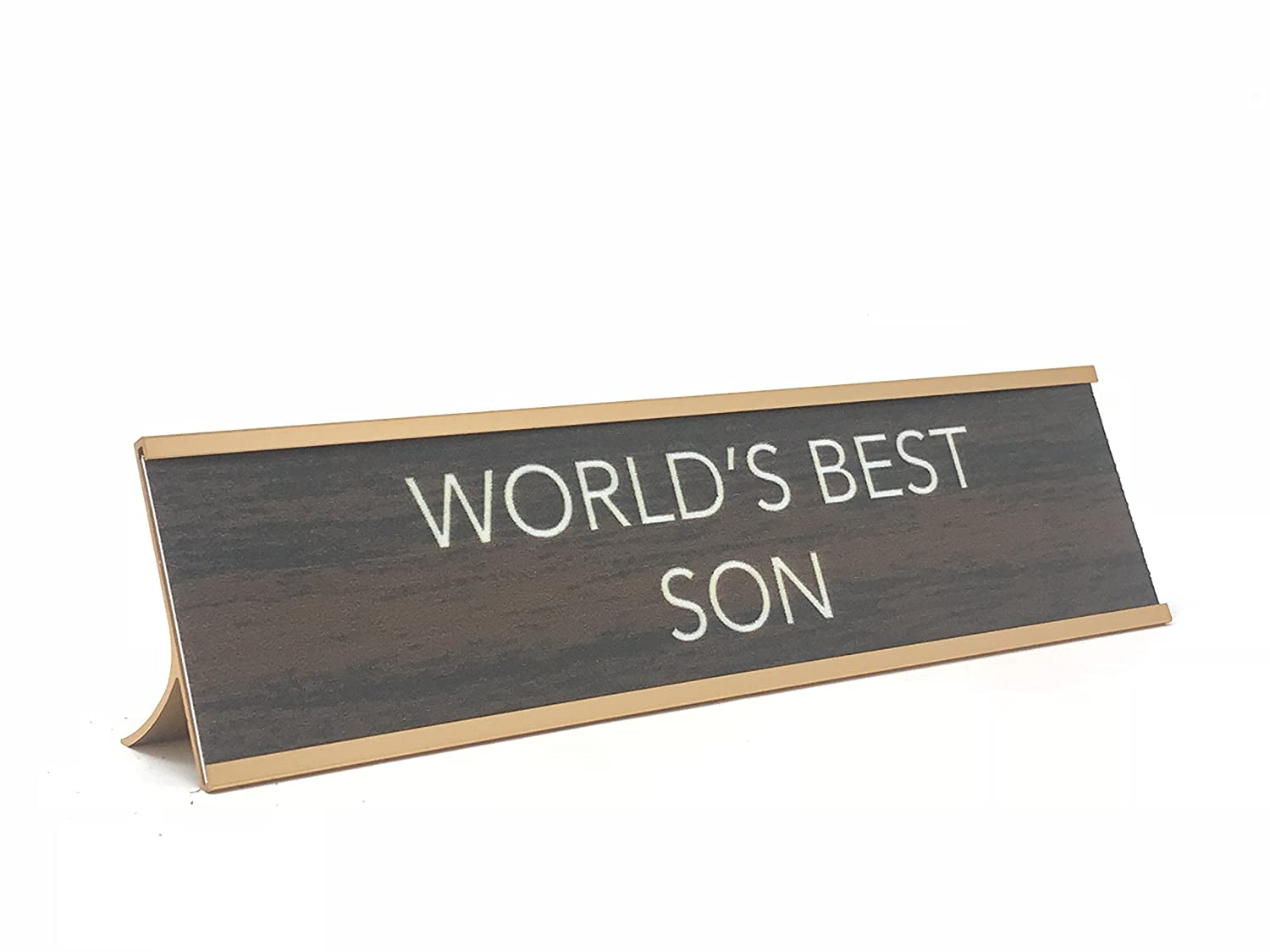 Brown//Gold, Worlds Best Boss Engraving Worlds Best Novelty Nameplate Style Desk Sign aahs!