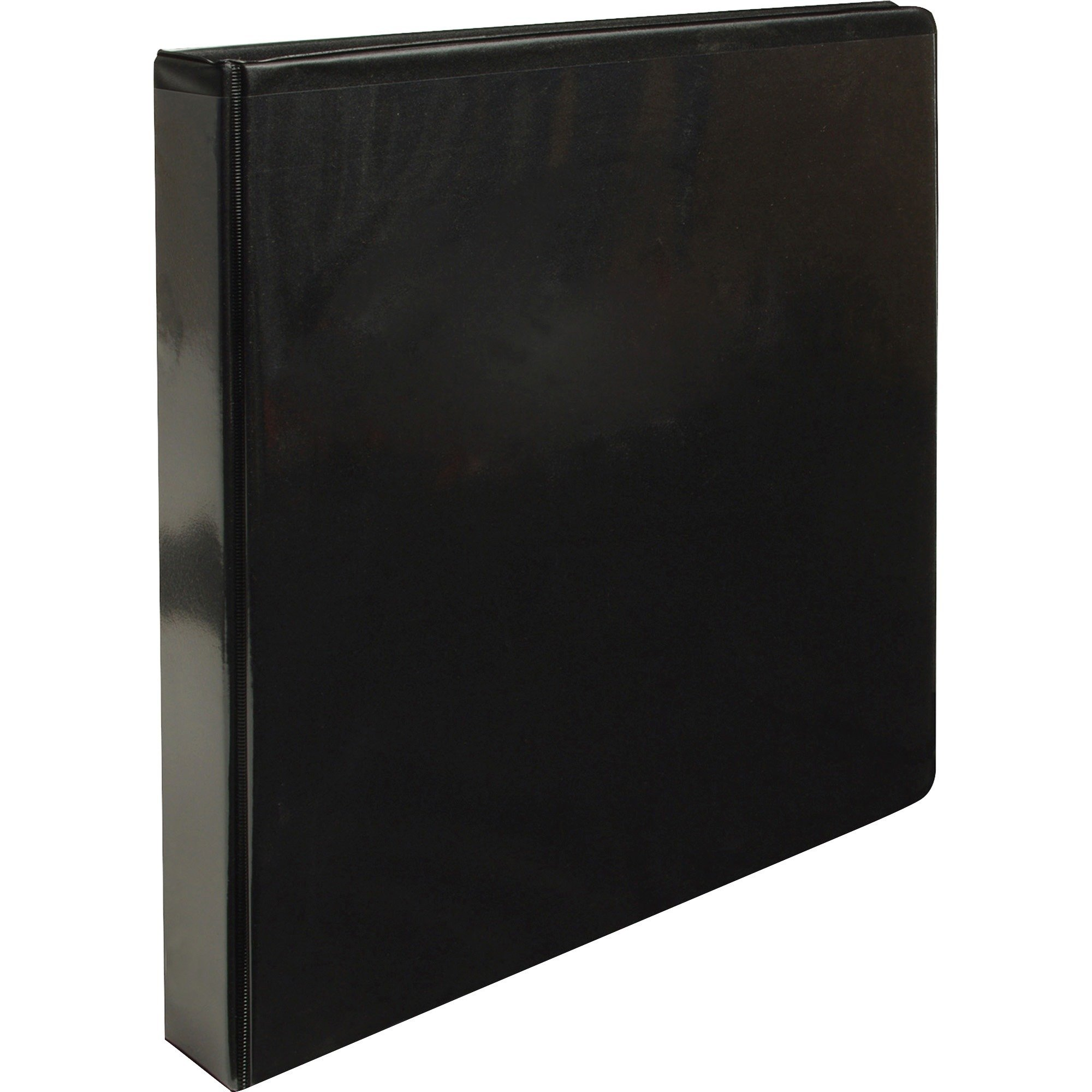 Business Source 09952CT View Binder, w/2 Inside Pockets, 1'' Capacity, 12/CT, Black by Business Source (Image #1)