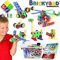 Brickyard Educational Construction Engineering Building Blocks Learning Set (163-Pieces)