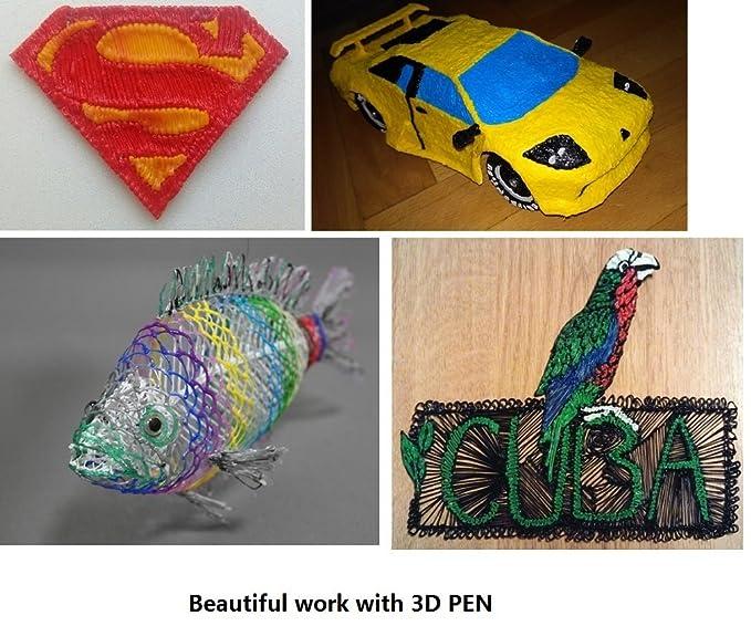 obast 3d lápiz con PLA Filamento impresora 3d lápiz Set 3d Pen con ...