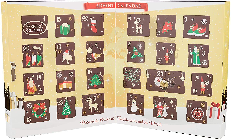 Inhalt Ferrero Collection Adventskalender 2020