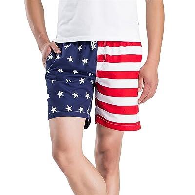 sfe-Mens Shorts,American Flag Men's Shorts,Men's Quick Dry American Flag Swim Trunk Board Shorts