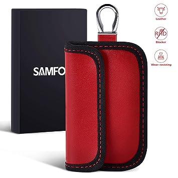 Samfolk Mini Faraday Bolsa para Llaves de Coche Funda para Bloqueo ...