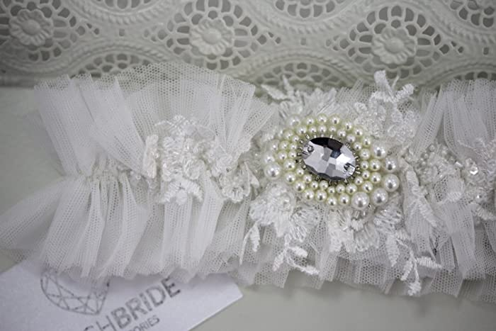 Amazon Wedding Garter Ivory Tulle Ivory Wedding Garter Bridal