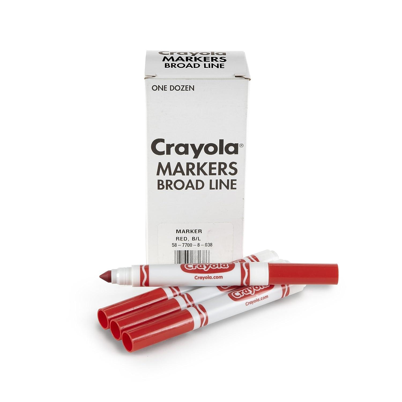 Crayola 12 Count Original Bulk Markers, Red Binney & Smith 58-7700-038