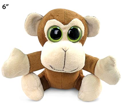 Amazon Com Big Eye Monkey Plush 6 Toys Games