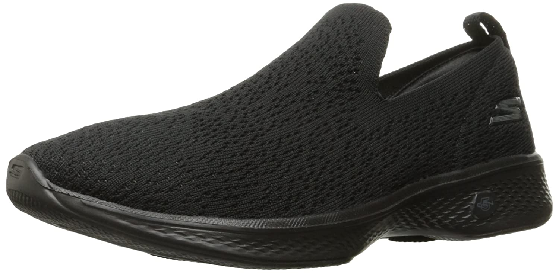 Black Skechers Womens GO Walk 4 - Gifted Slip-Ons
